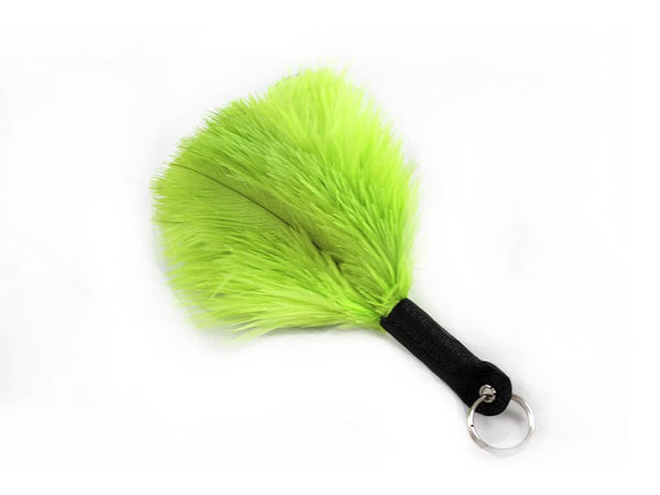 Ostrich Feather Keychain (Chartreuse)