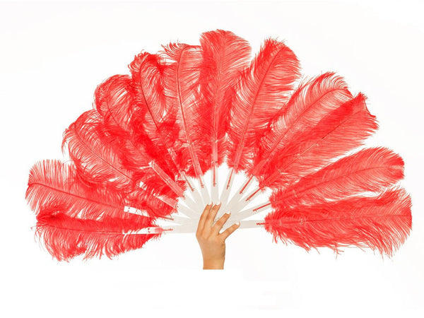 Economy Burlesque Fan Single Layer | Ostrich Feather Fans - FancyFeather.com