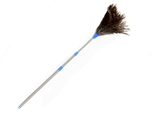 Telescoping Plastic Handle Ostrich Feather Duster - FancyFeather.com