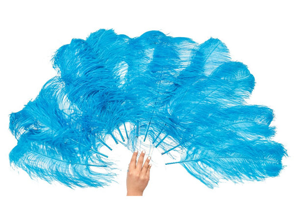 Ostrich Feather Fan | Petite Fan Single Layer - FancyFeather.com