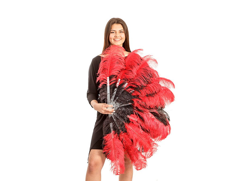 Ostrich Feather Fan | Tease Fan Double Layer - FancyFeather.com
