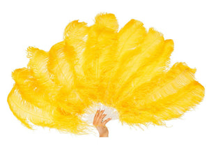 Fancy Burlesque Fan Single Layer | Ostrich Feather Fans - FancyFeather.com
