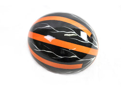 Decoupage Ostrich Egg Shell (Tangerine Stripes)