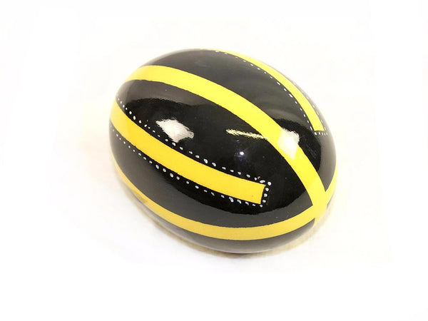 Decoupage Ostrich Egg Shell (Yellow Stripes)