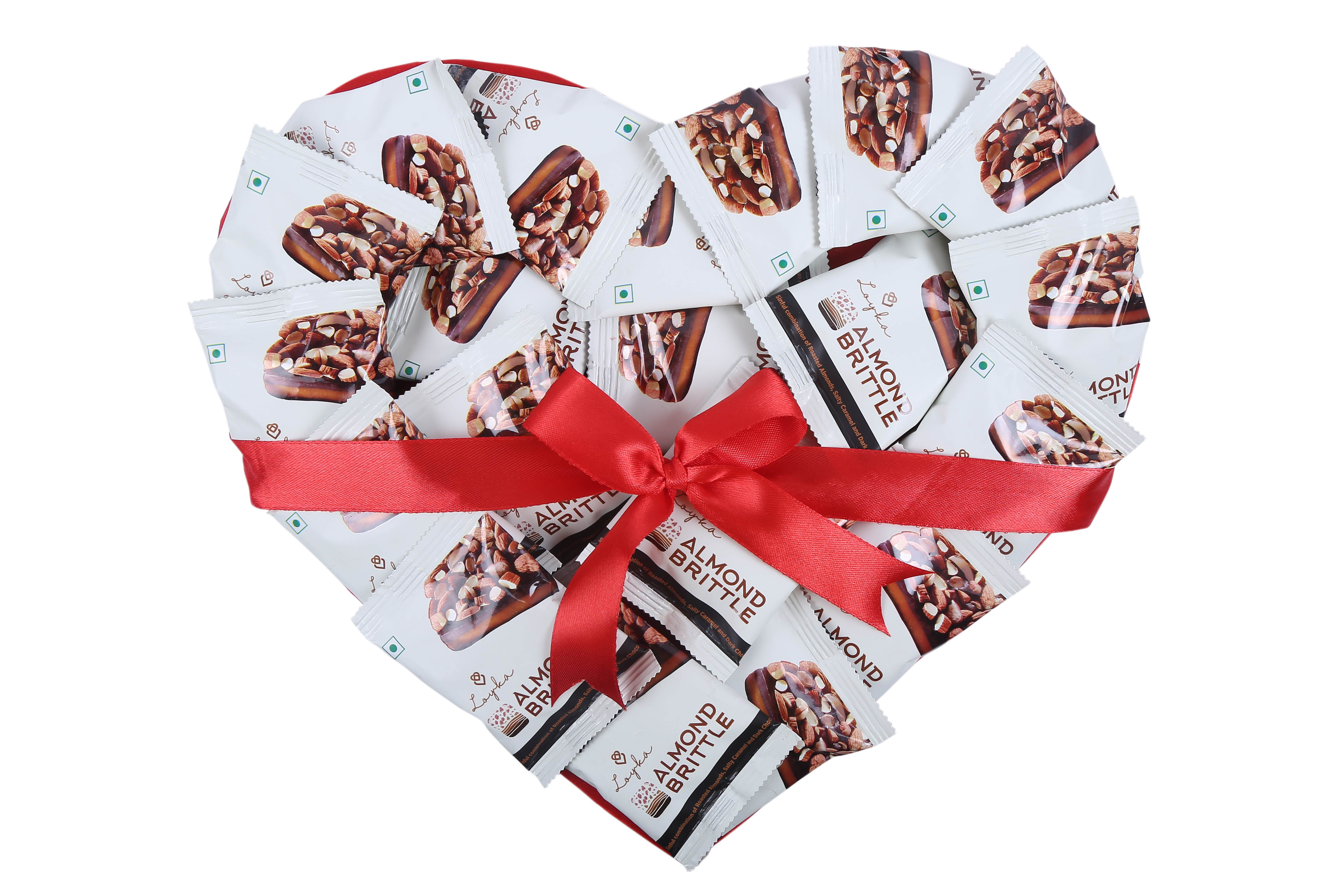 Valentine's Day Special - Loyka Almond Brittle Heart Shaped Bouquet