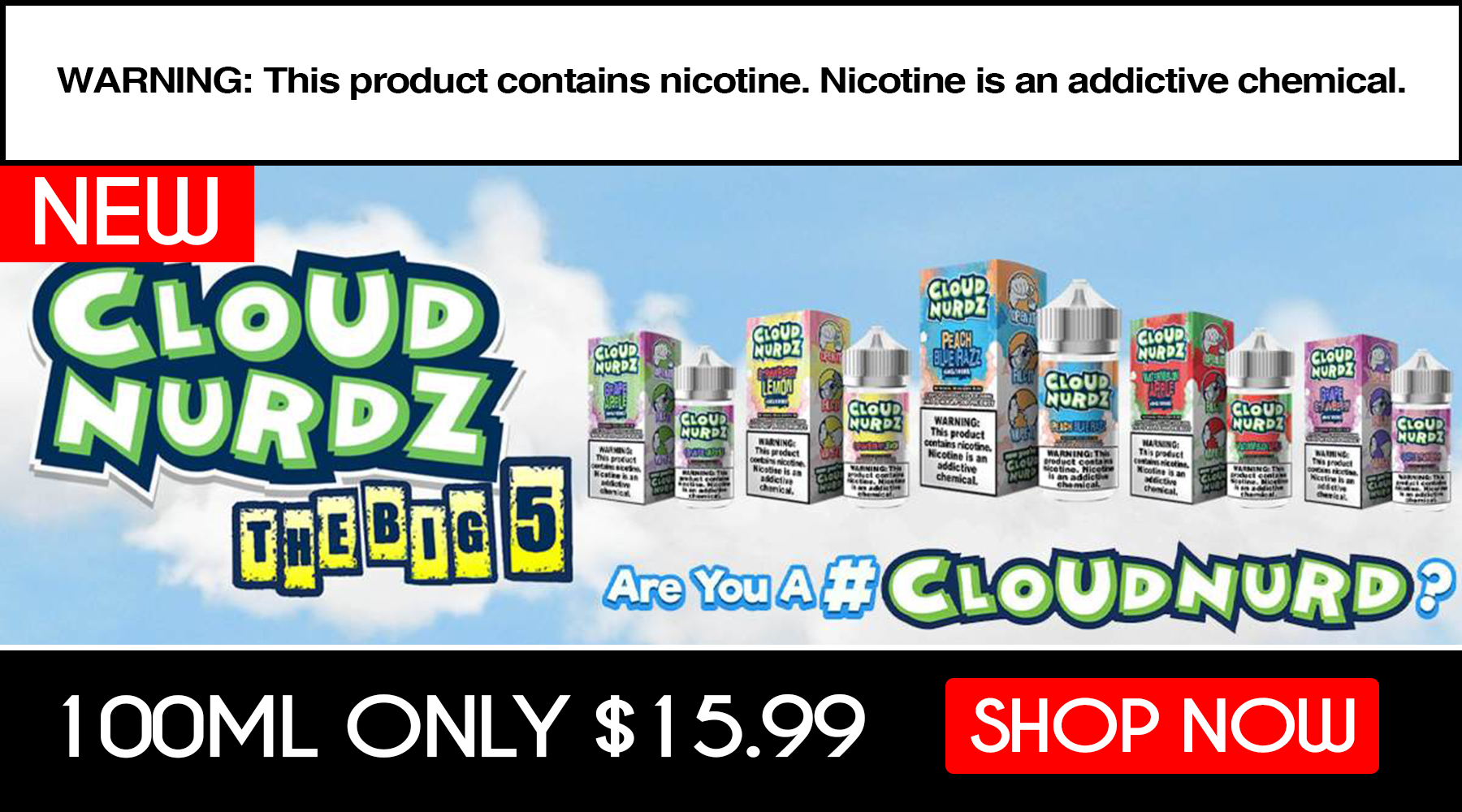 Cloud Nurdz Eliquid