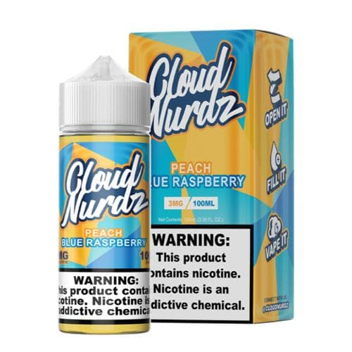 Cloud Nurdz Peach Blue Razz eJuice