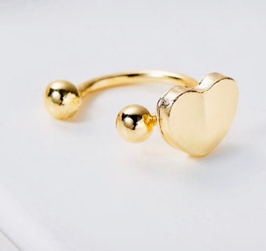 Love Heart ear cuff
