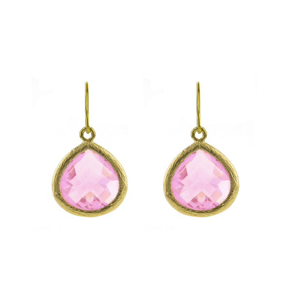 Pink love earrings