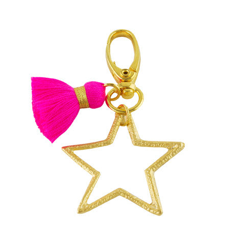 Star tassel key chain