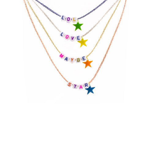Your favourite star word necklace