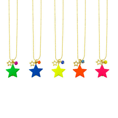 Bright colour star candy pendant
