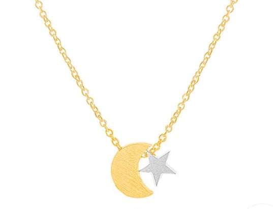 Twinkling moonlight necklace