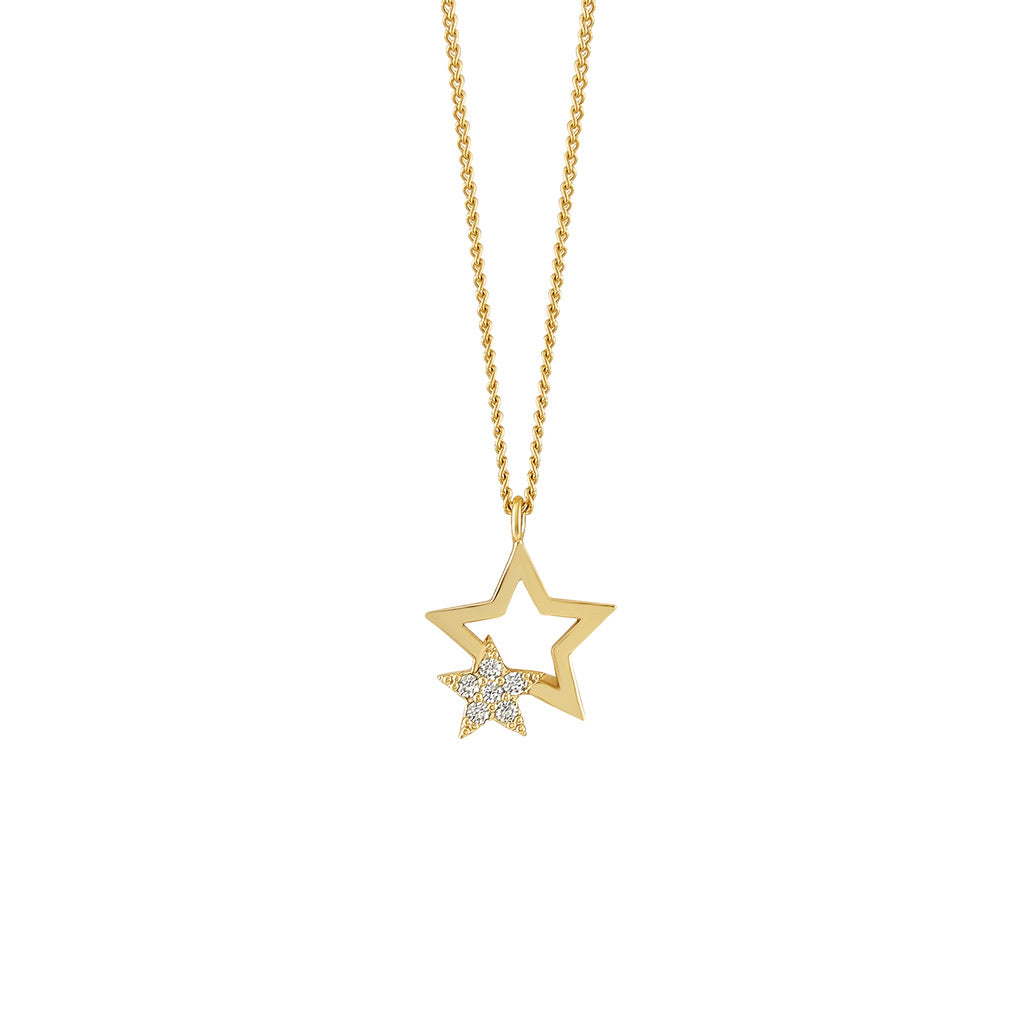 Hidden star necklace