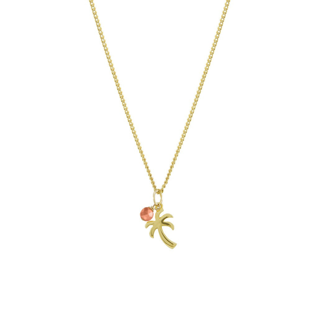 Golden palm necklace