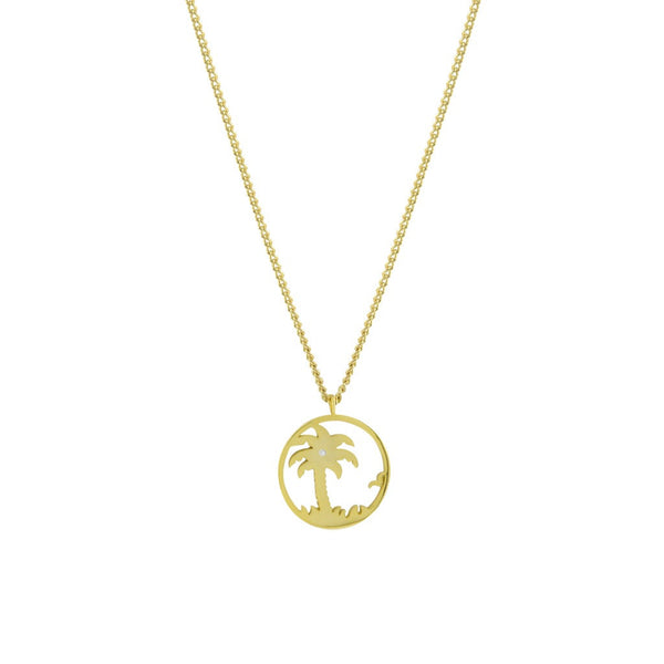 Sparkling palm tree pendant