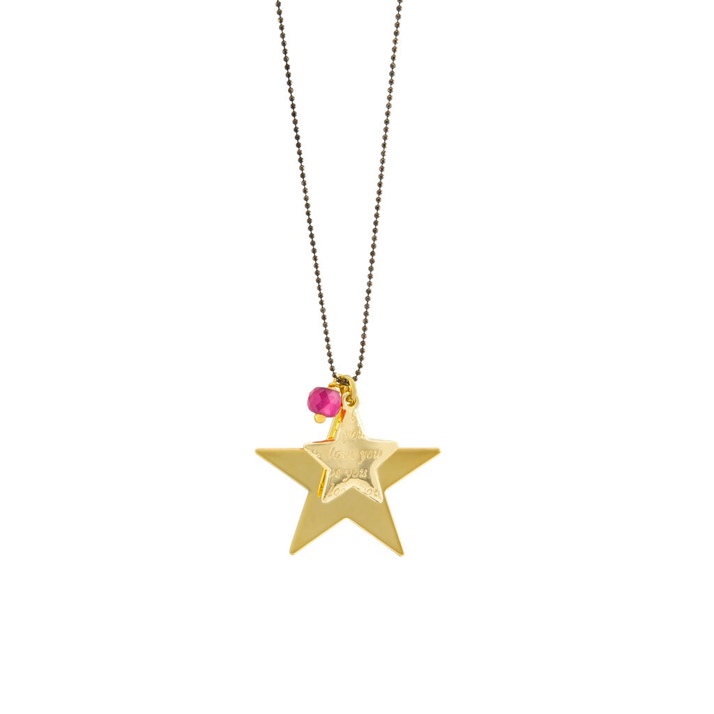 I Love You star pendant