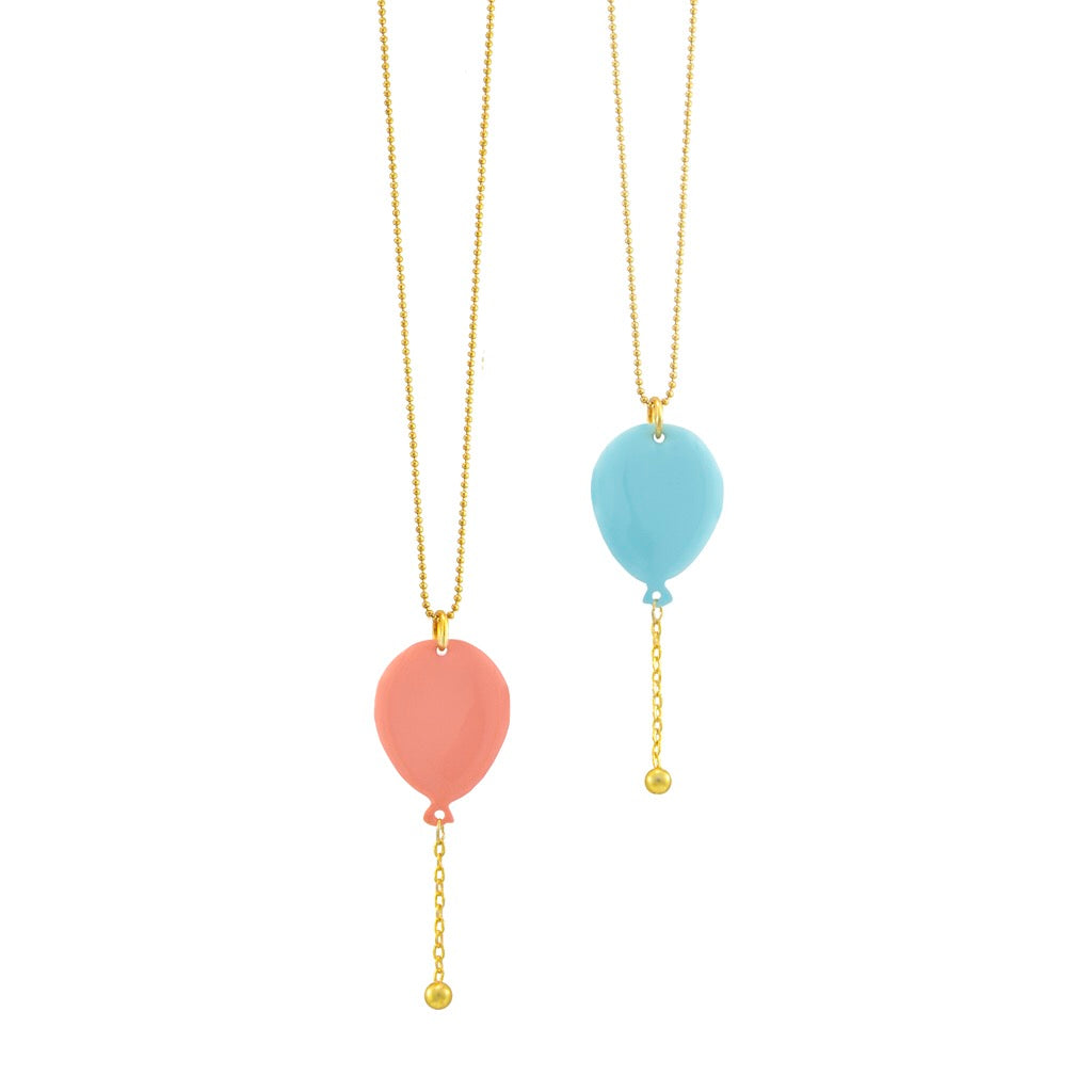 Enamel balloon necklace