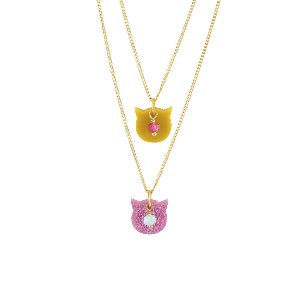 Here kitty necklace