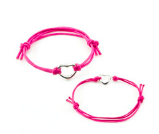 Mother daughter pair of bracelets