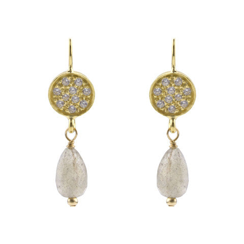 Misty sparkle earrings