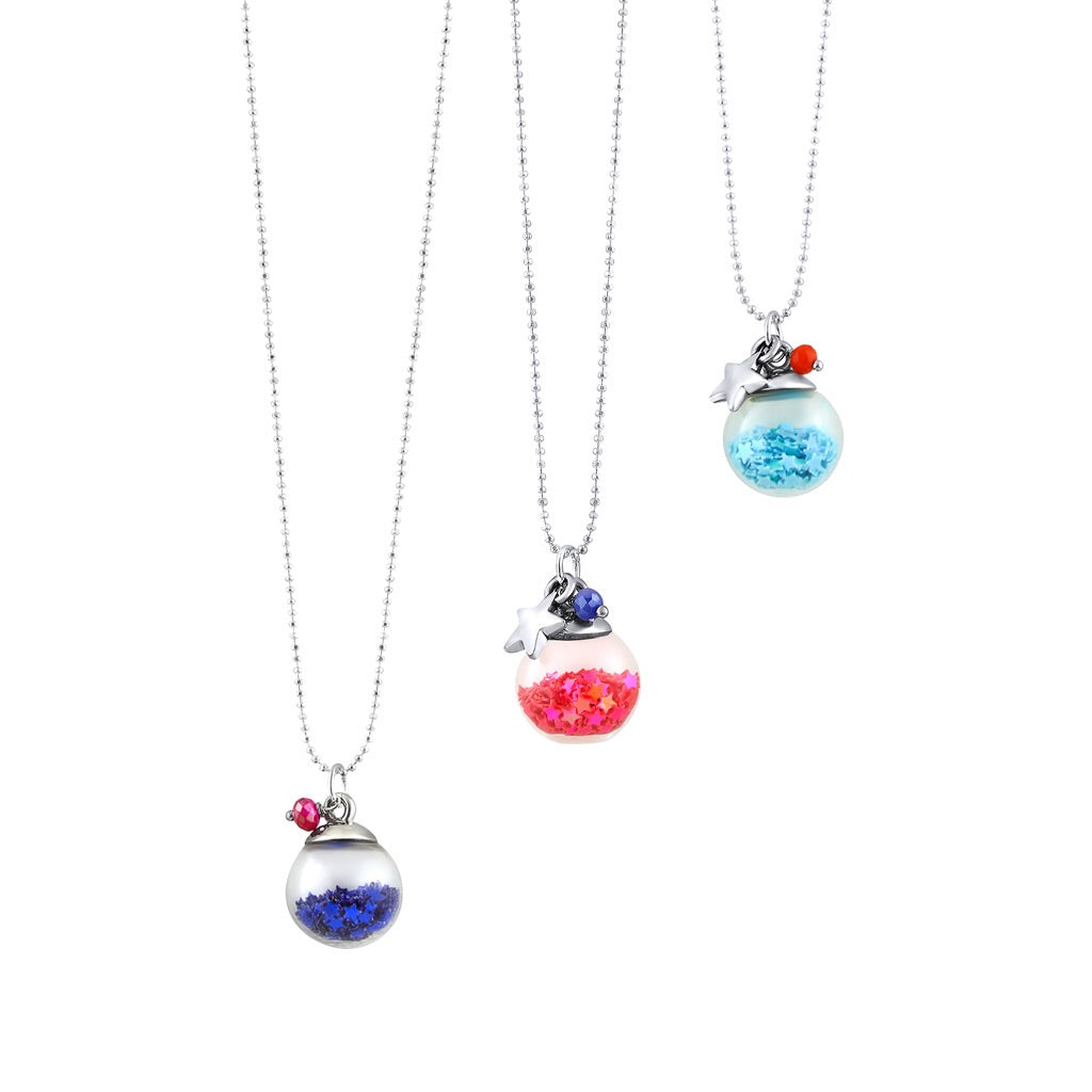 Glitter globe necklace
