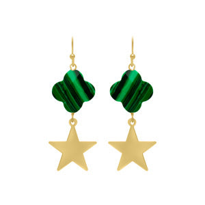 Star clover earrings
