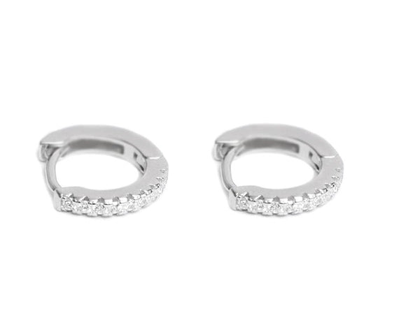 Sparkle diamond huggie hoops