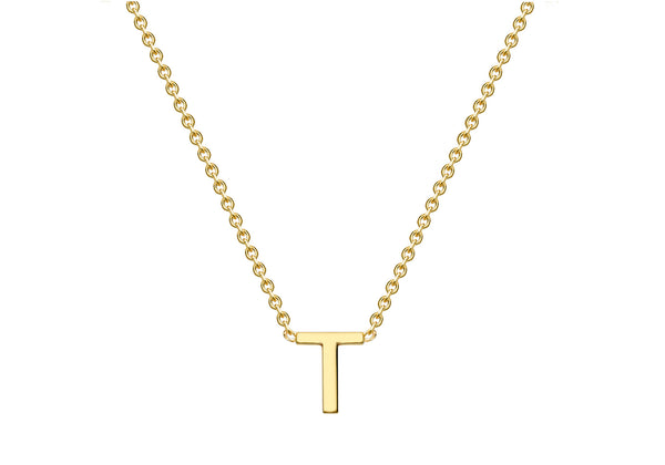Gold initial necklace 9ct
