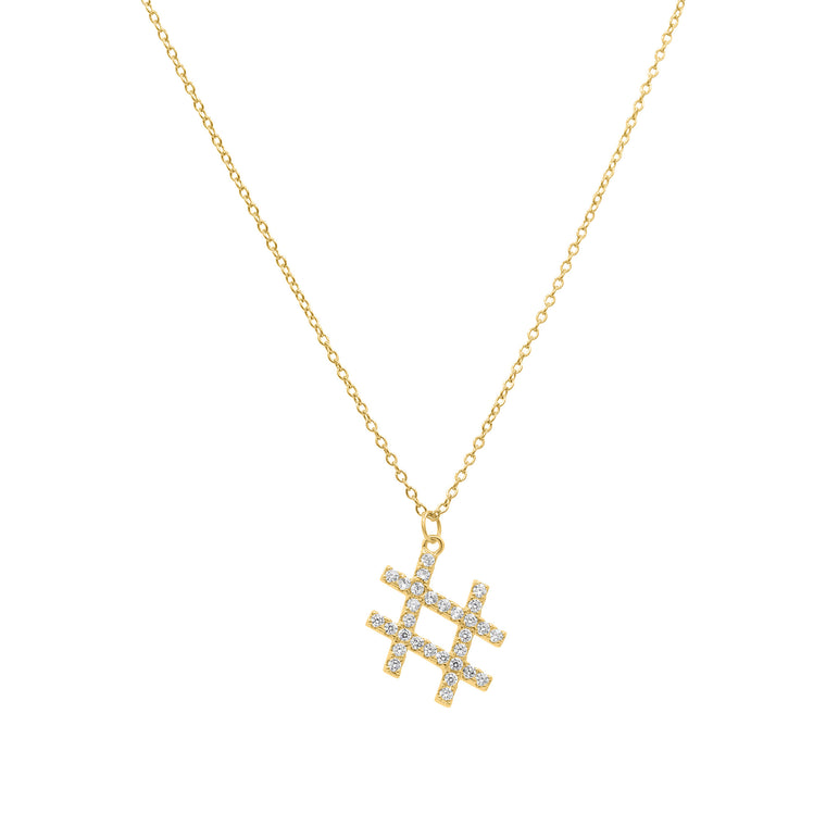 Hashtag necklace