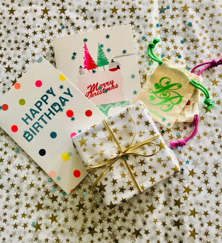 Gift wrapping and card