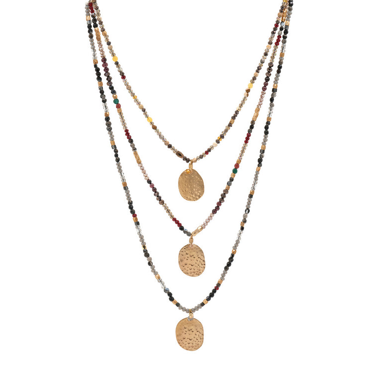 Long multicoloured necklace - Paris long necklace