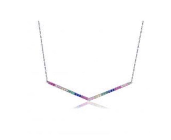 Rainbow trendy necklace