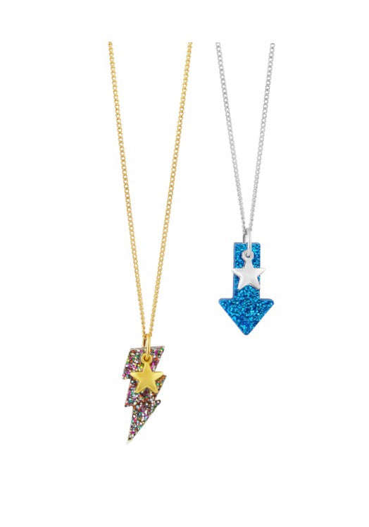 Lightning and arrow necklaces