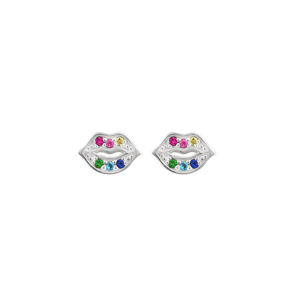 Over The Rainbow Lips studs