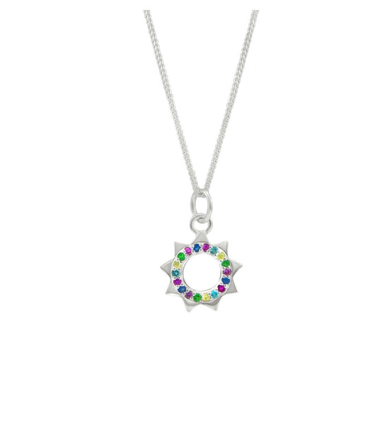 Rainbow sun necklace