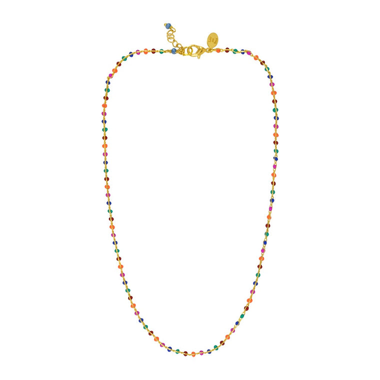 Coloured Enamel Dot necklace