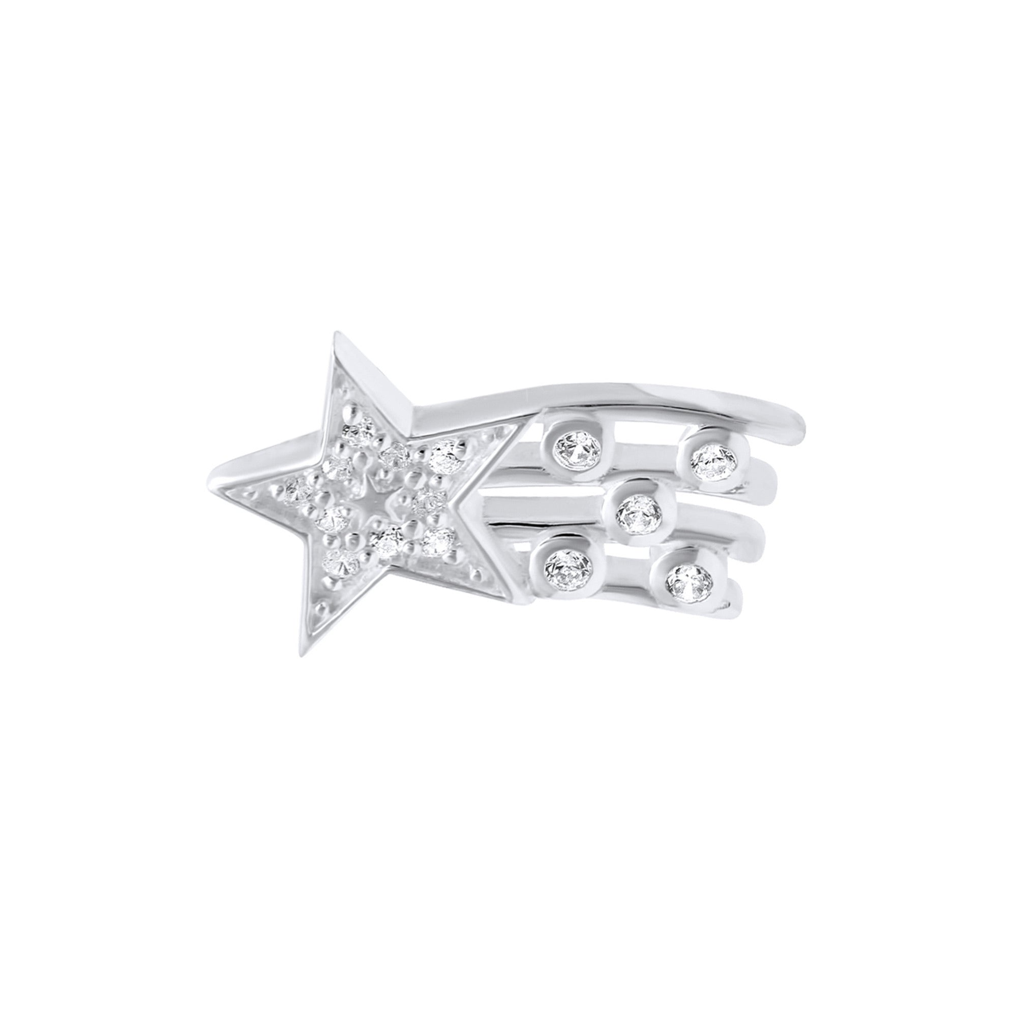 Shooting star lapel pin