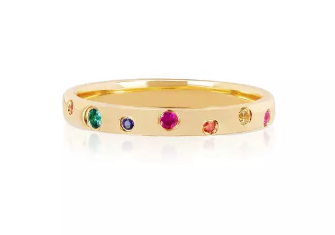 Rainbow ring band