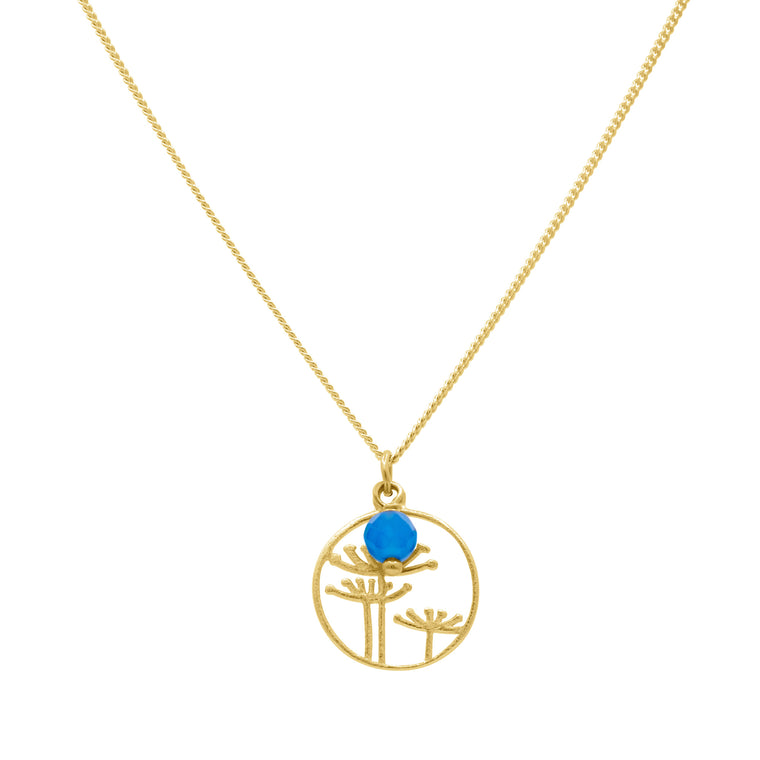 Gold plated Kyoto garden pendant