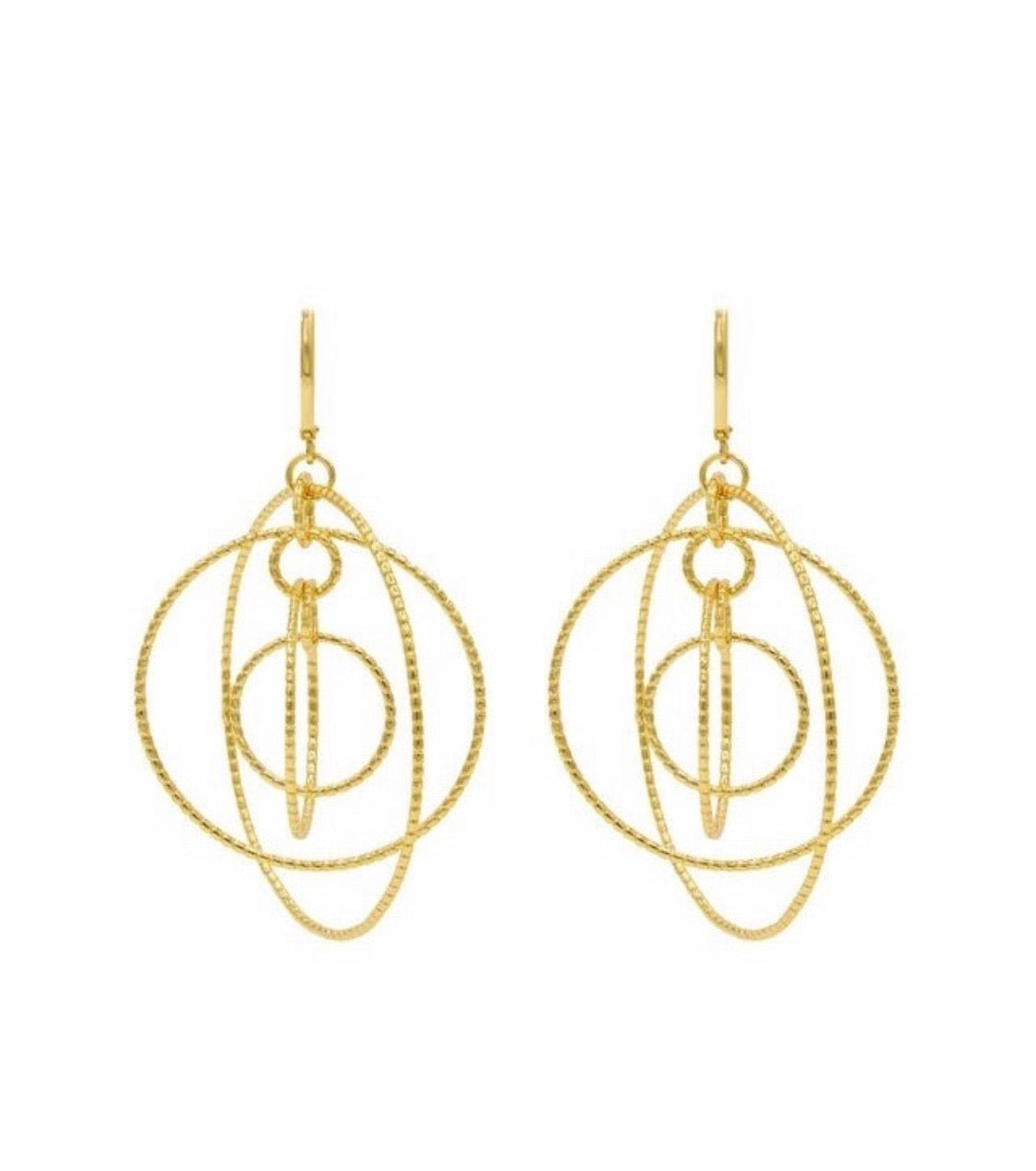 Globe gold earrings