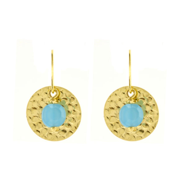 Blue sun earrings