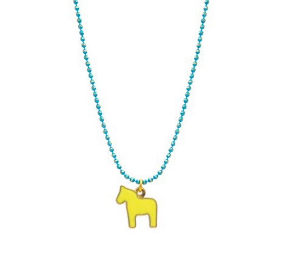 Happy pony necklace