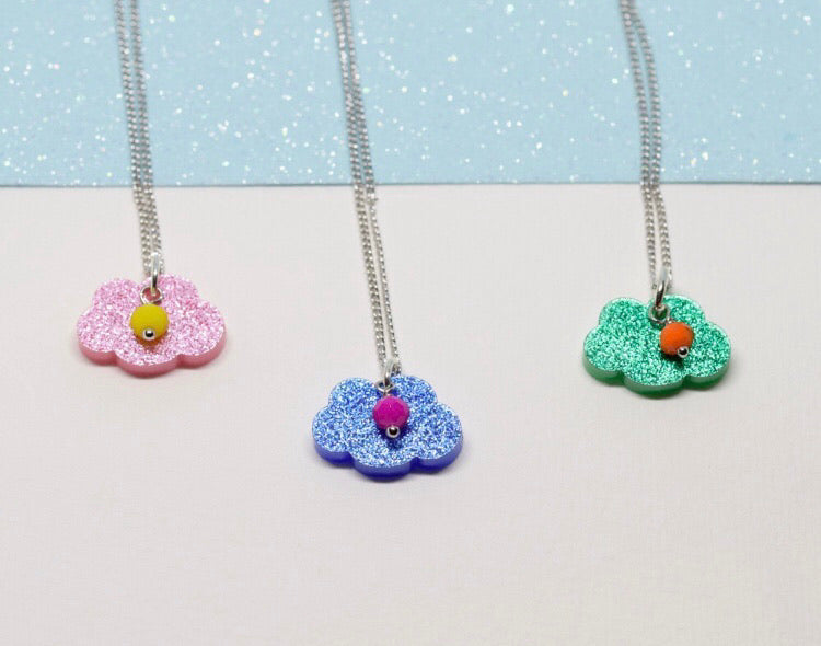 Sparkly cloud necklace