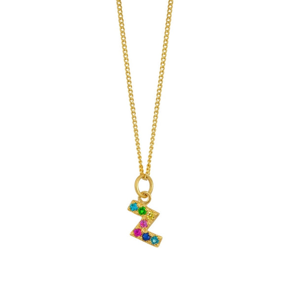 Zigzag rainbow necklace