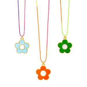 Neon Daisy necklace