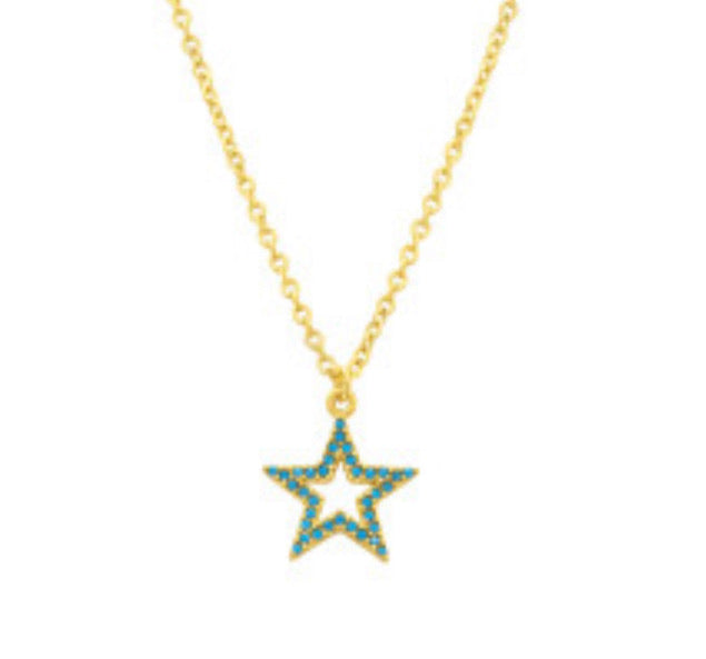 Turquoise star necklace