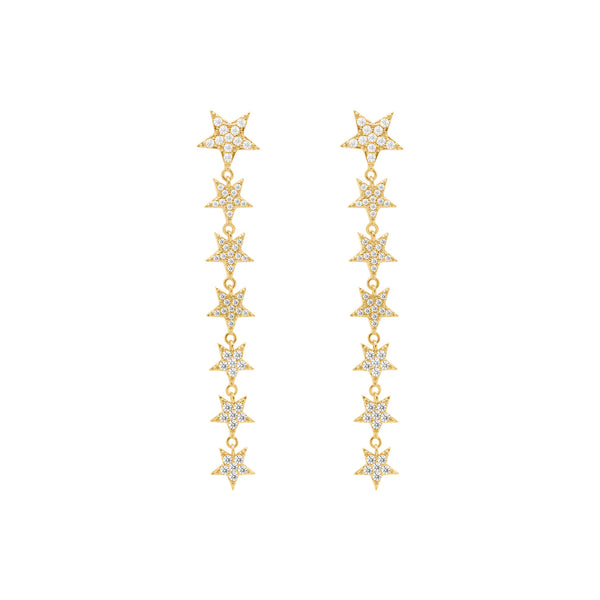 Falling star earrings