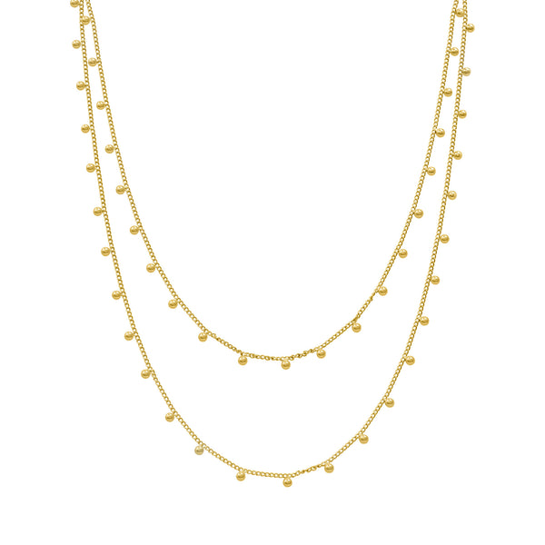 Raindrops gold chain
