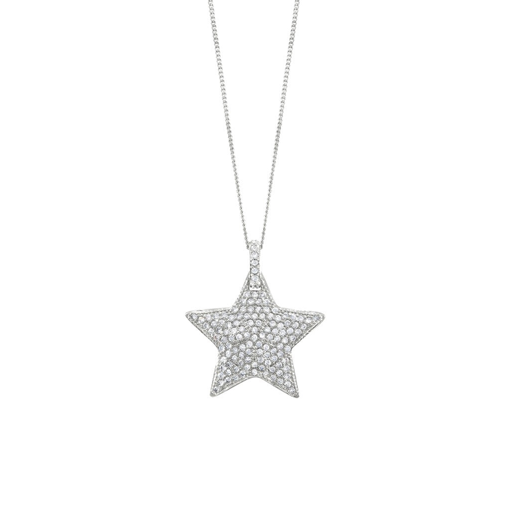 Sparkly star pendant